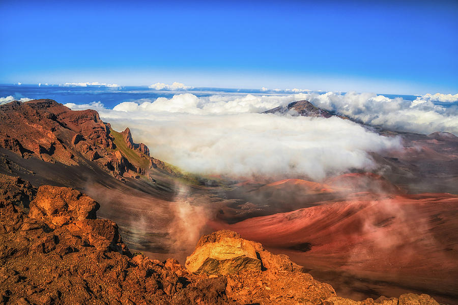 Haleakala Photograph - Colors And Clouds by Fernando Margolles