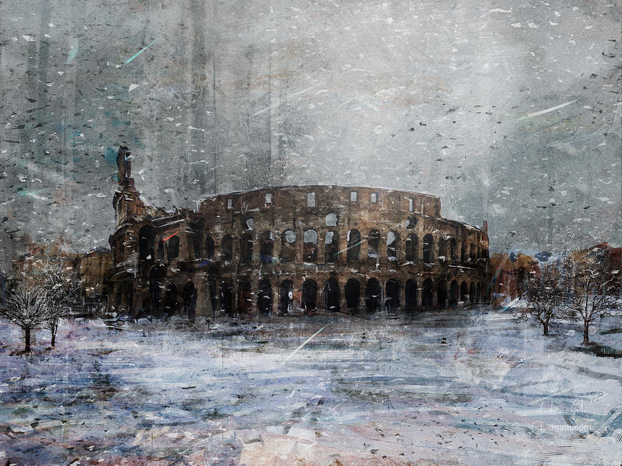 Colosseo Neve Digital Art