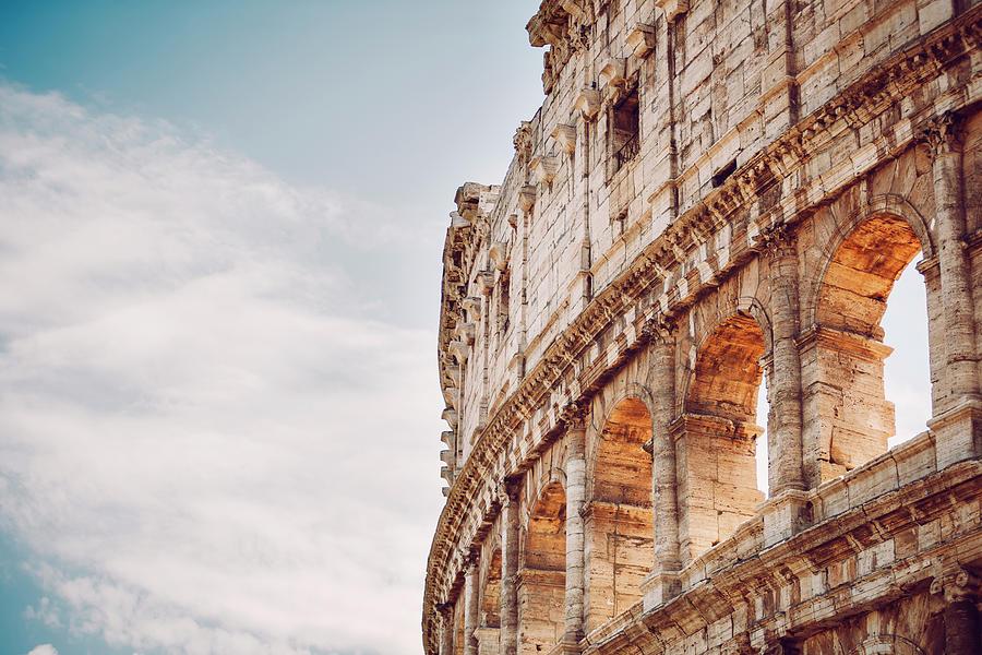 Colosseum close up detail, Rome, Italy by Eduardo Huelin