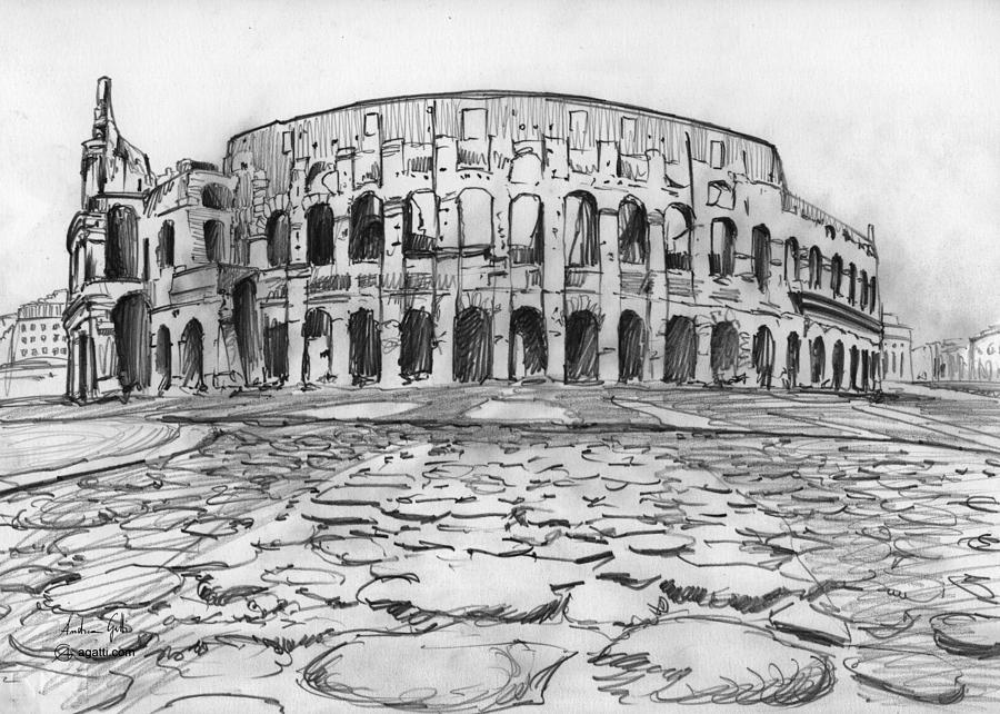 Colosseum Drawing Drawing