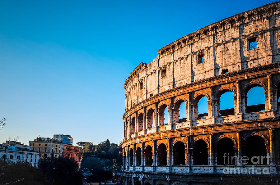 Romans Photograph - Colosseum In Rome In Rome, Italy by Ilolab