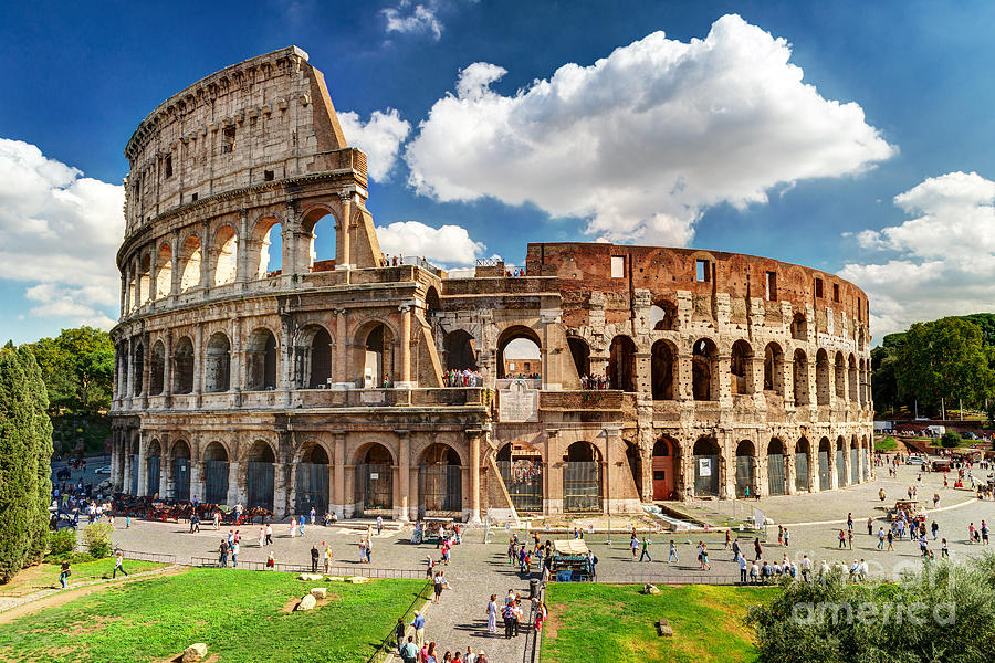 Roman Photograph - Colosseum In Rome, Italy. Ancient Roman by Viacheslav Lopatin