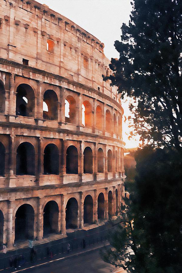 Colosseum, Rome - 14  by Andrea Mazzocchetti