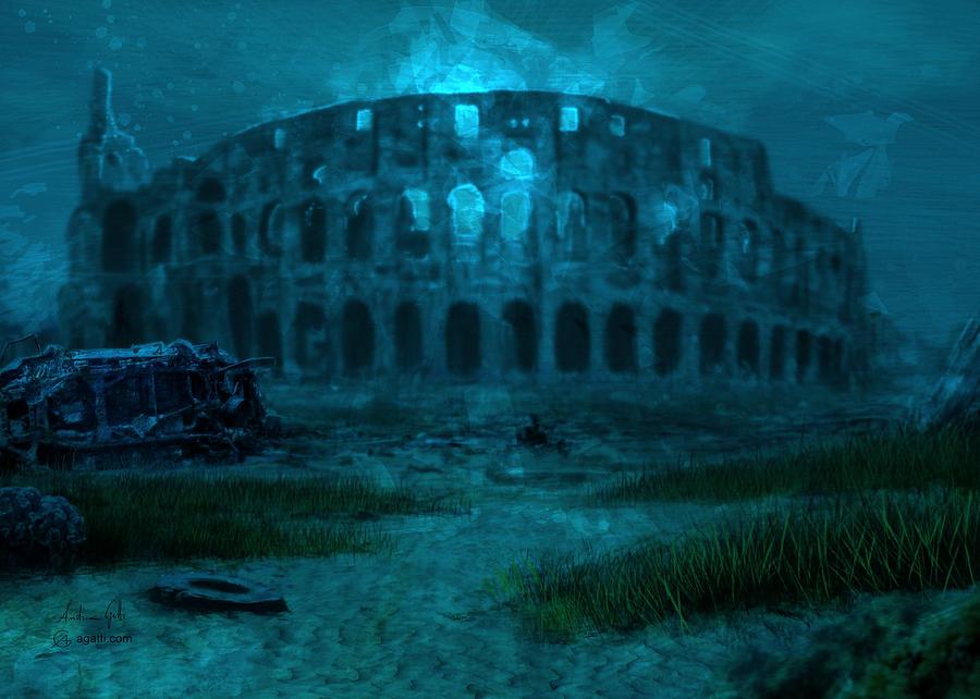 Colosseum Sea Digital Art