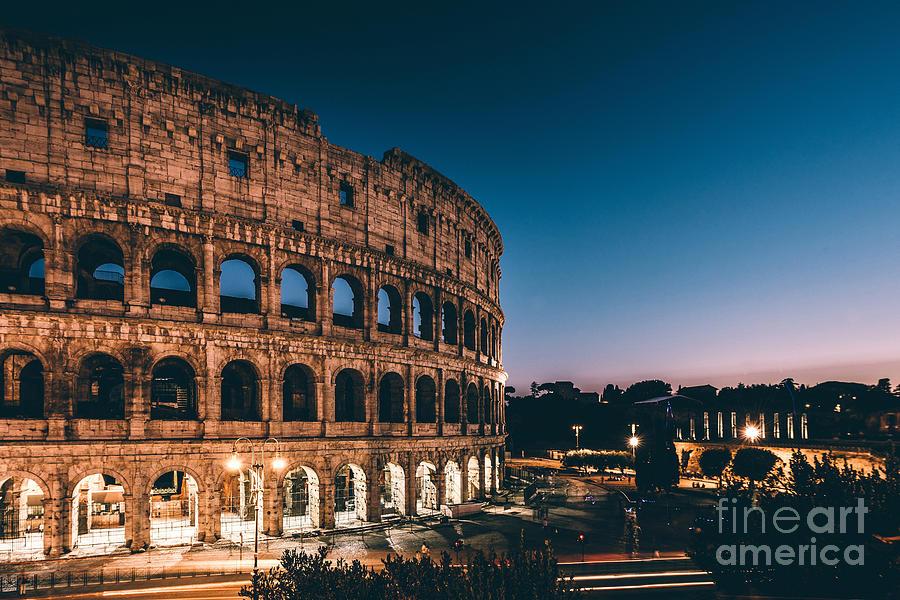 Sunrise Photograph - Colosseum by Tom Bennink