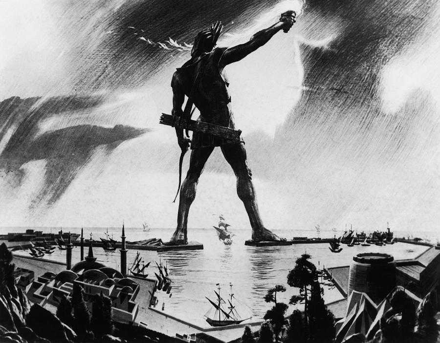 Colossus Of Rhodes Photograph by Three Lions