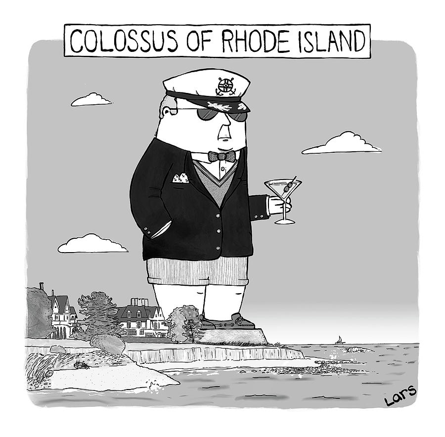 Colossus Of Rhone Island Drawing by Lars Kenseth
