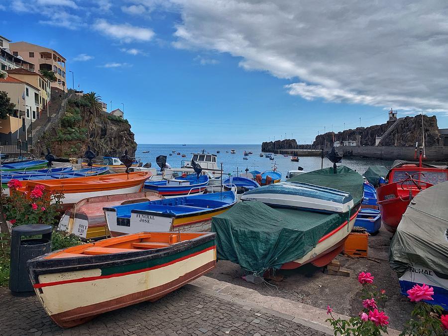 Village Photograph - Colourful Boats by Fabio Gomes Freitas