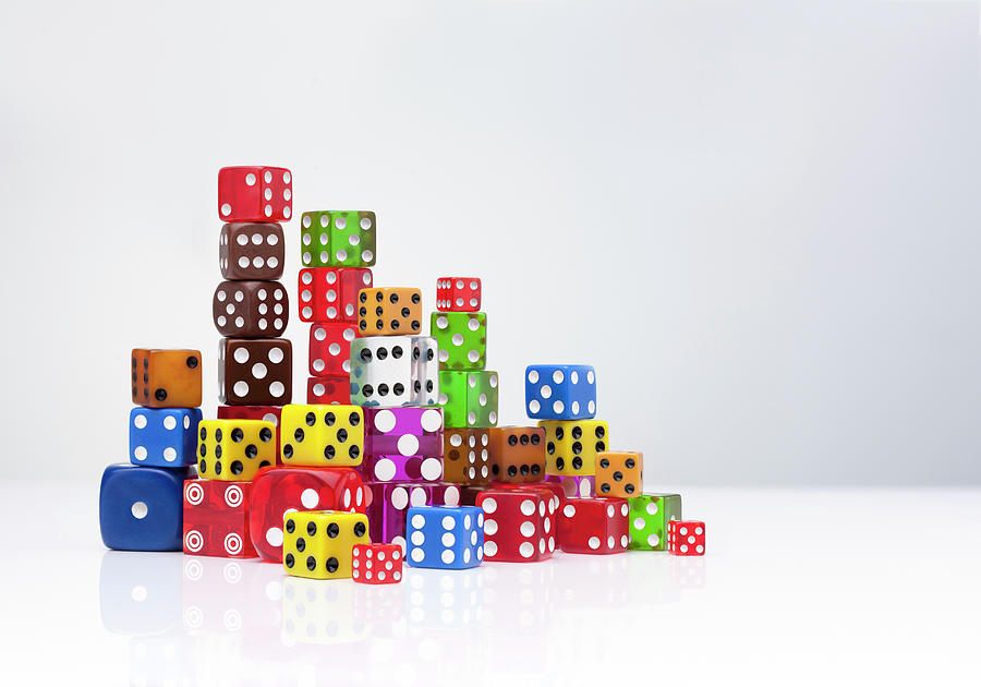 Colourful Dice Photograph by Anthony Bradshaw