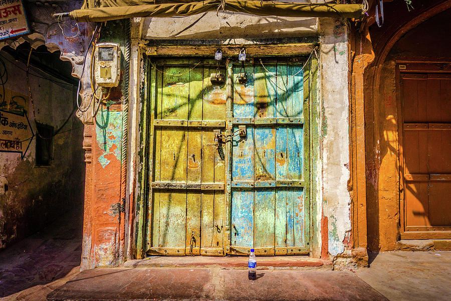Colourful Doors Agra by Gary Gillette