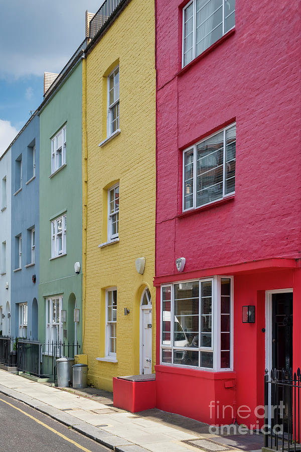 Colourful Houses Godfrey Street Chelsea by Tim Gainey