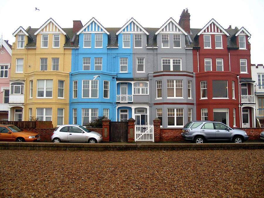 Colourful Houses In Aldeburgh Photograph by G. Merrill
