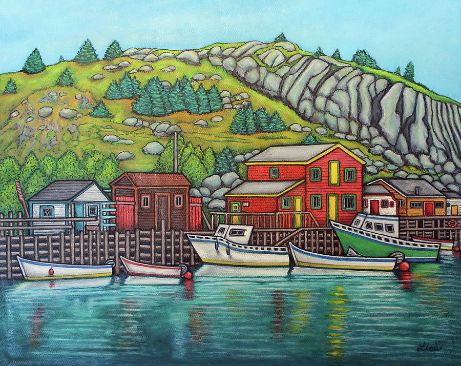 Colours of Quidi Vidi, Newfoundland by Lisa Lorenz