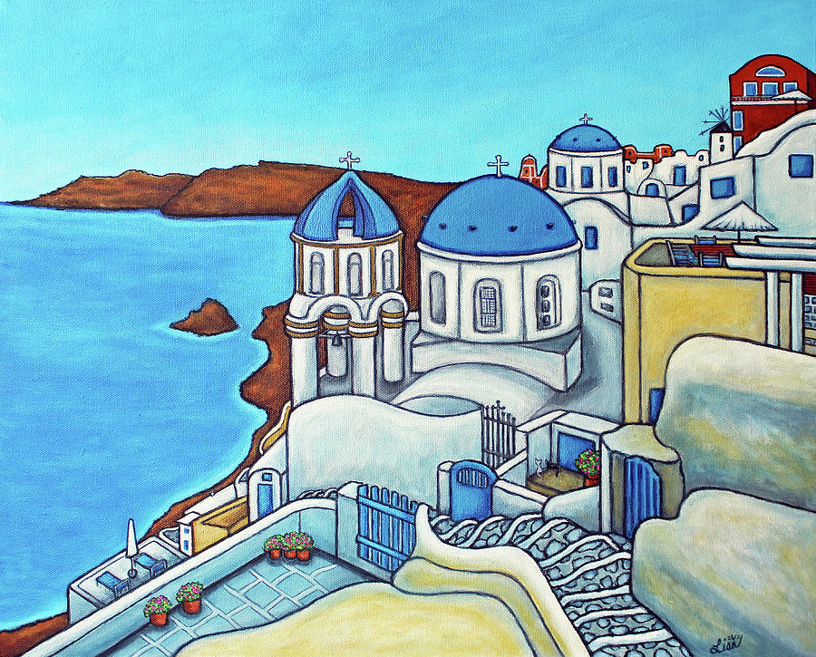Colours of Santorini by Lisa Lorenz