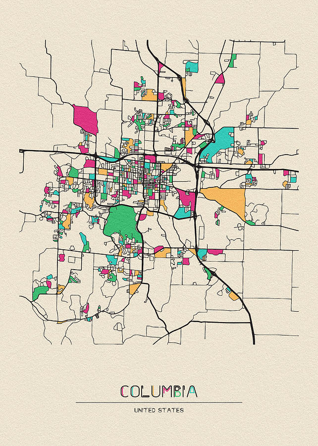 Columbia Missouri City Map
