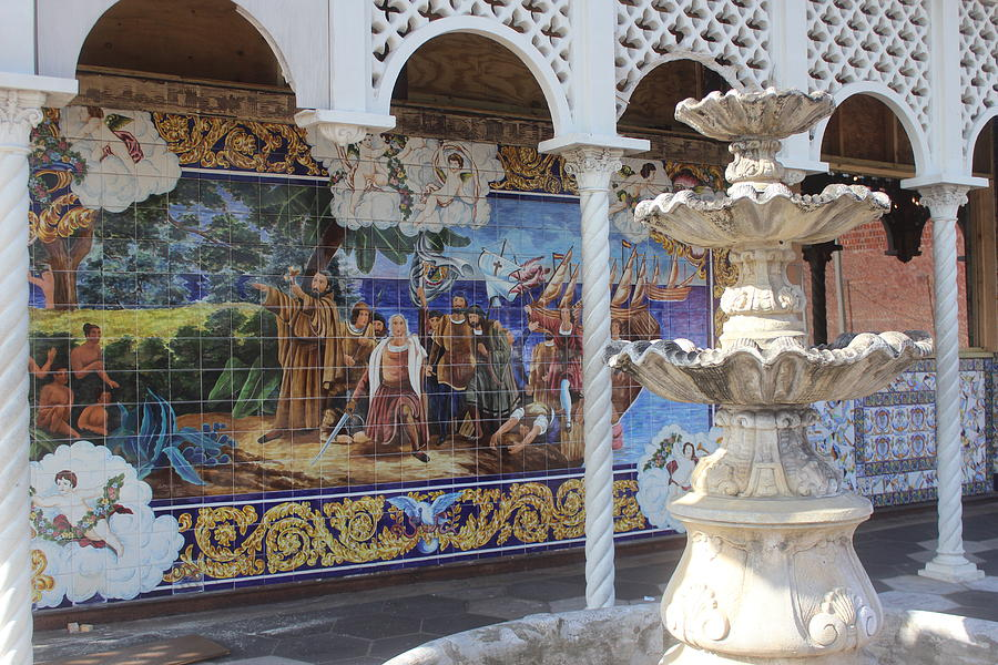 Fountain Photograph - Columbia Restaurant, Ybor City by Callen Harty