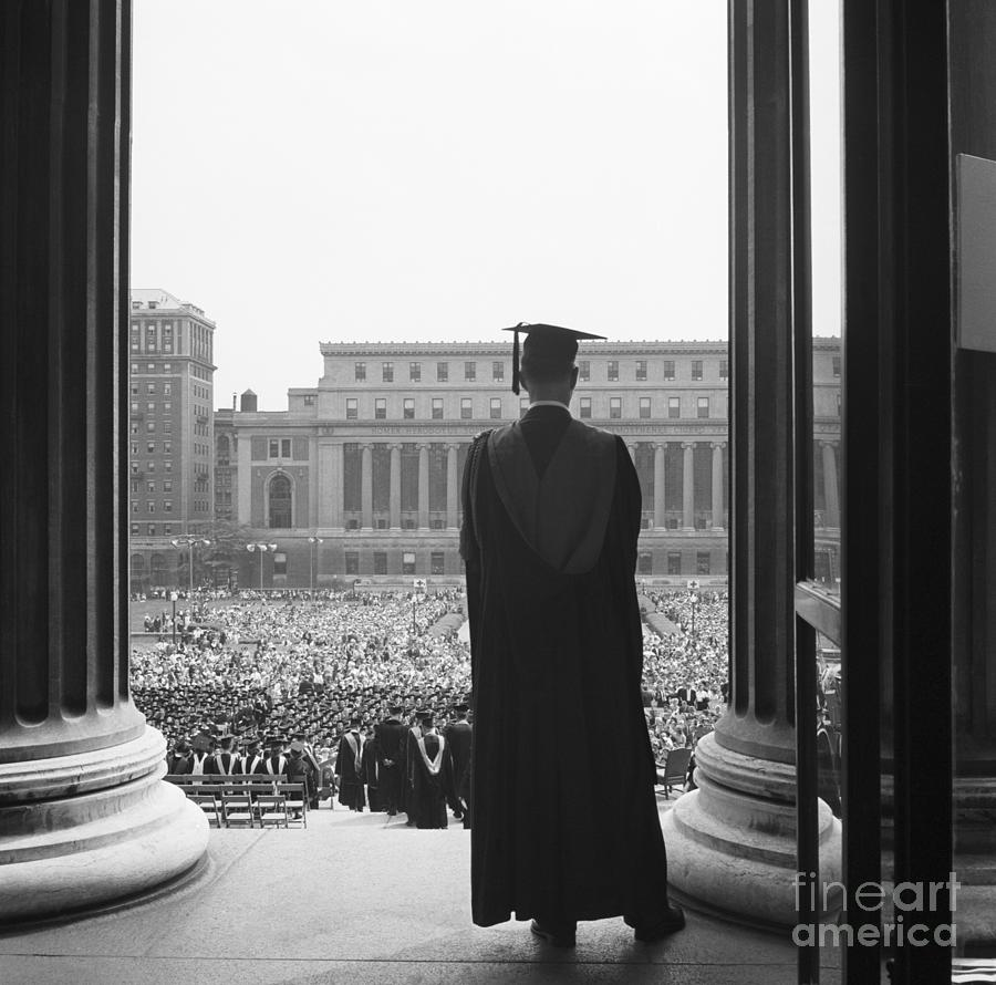 Columbia University Graduate Photograph by Bettmann