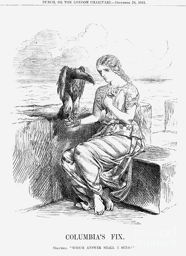 Columbias Fix, 1861 Drawing by Print Collector
