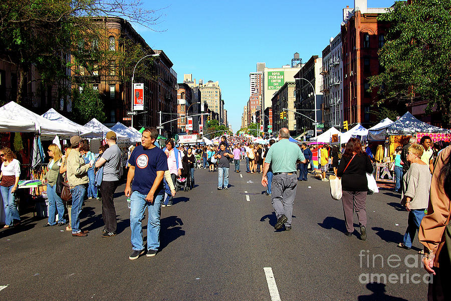 New York Photograph - Columbus Day On Amsterdam Ave. Upper West Side, New York 2008 by Zal Latzkovich