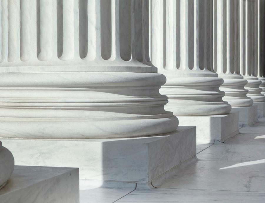 Column Outside U.s. Supreme Court Photograph by Drnadig