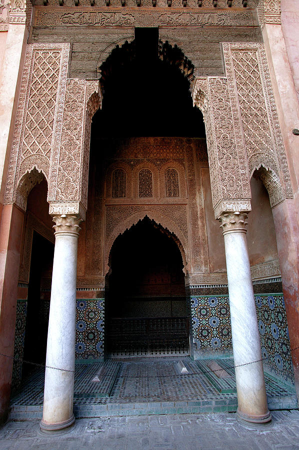 Columned Archway At Saadian Tombs Photograph by Lonely Planet