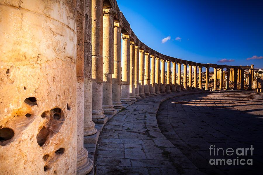 Civilization Photograph - Columns  In Ancient Ruins In The by Barnuti Daniel Ioan