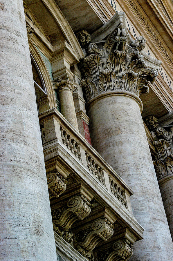 Church Photograph - Columns by Joseph Yarbrough