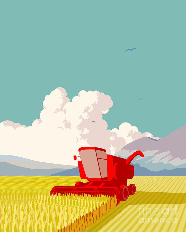 Combine Harvester Digital Art by Smartboy10