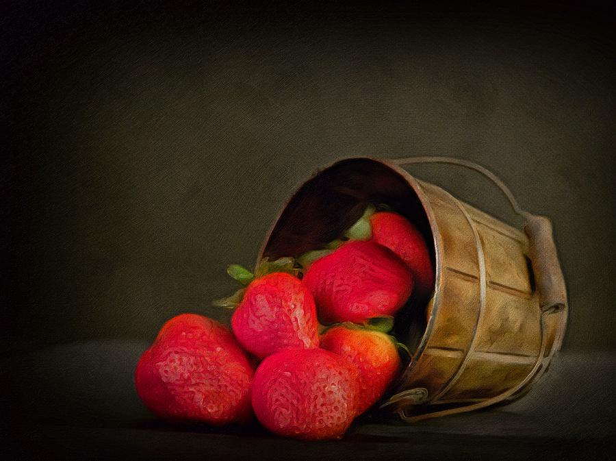 Come Share My Ripe Strawberries Red  by Georgiana Romanovna