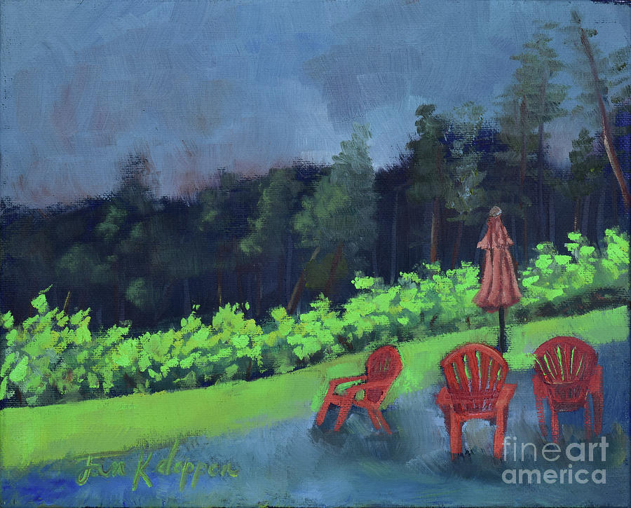 Come Sit by Me for Awhile-Ott Farms and Vineyard by Jan Dappen