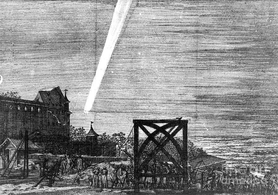 Comet Of December 1680 Kirch, 1681 Drawing by Print Collector