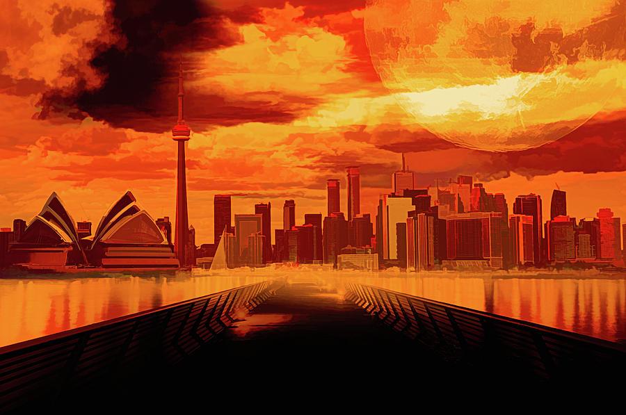 City Digital Art - Comic City by Jasmina Seidl