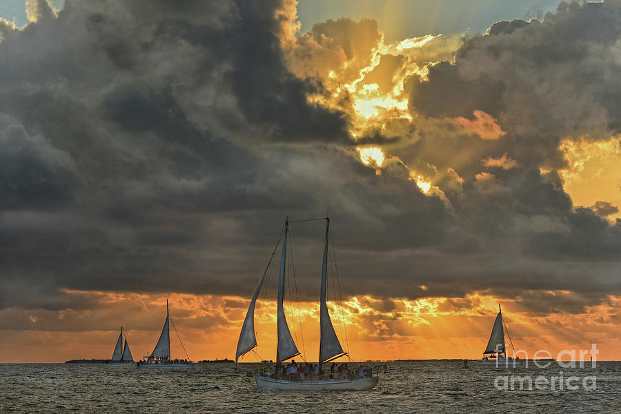 Coming Storm at Sunset in Key West, Florida by Catherine Sherman