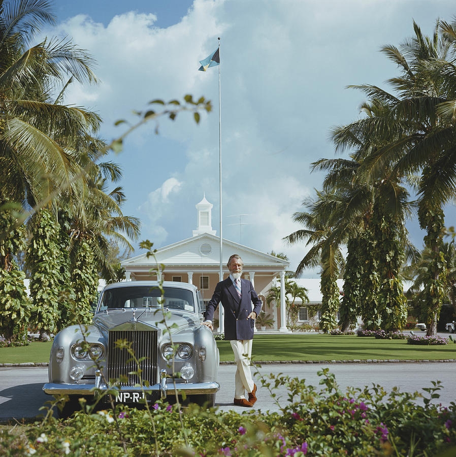 Rolls Royce Photograph - Commander Whitehead by Slim Aarons