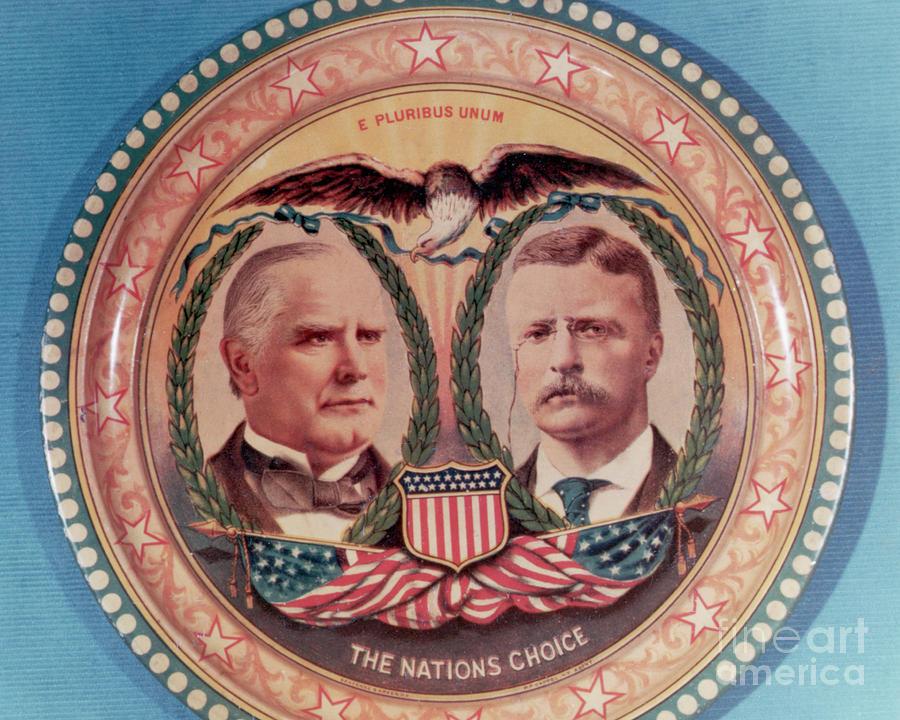 Commemorative Tin Of 1900 Presidential Photograph by Bettmann