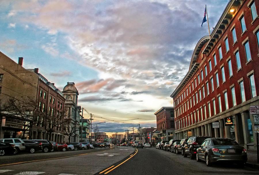 Commercial Street Portland Maine Photograph