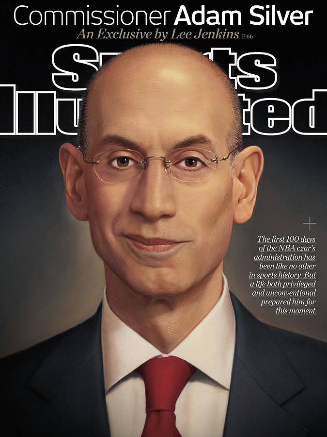 Commissioner Adam Silver An Exclusive Sports Illustrated Cover Photograph by Sports Illustrated