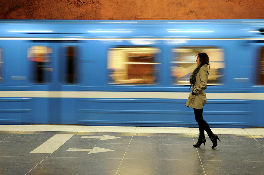 Commuter Photograph by Rhoberazzi