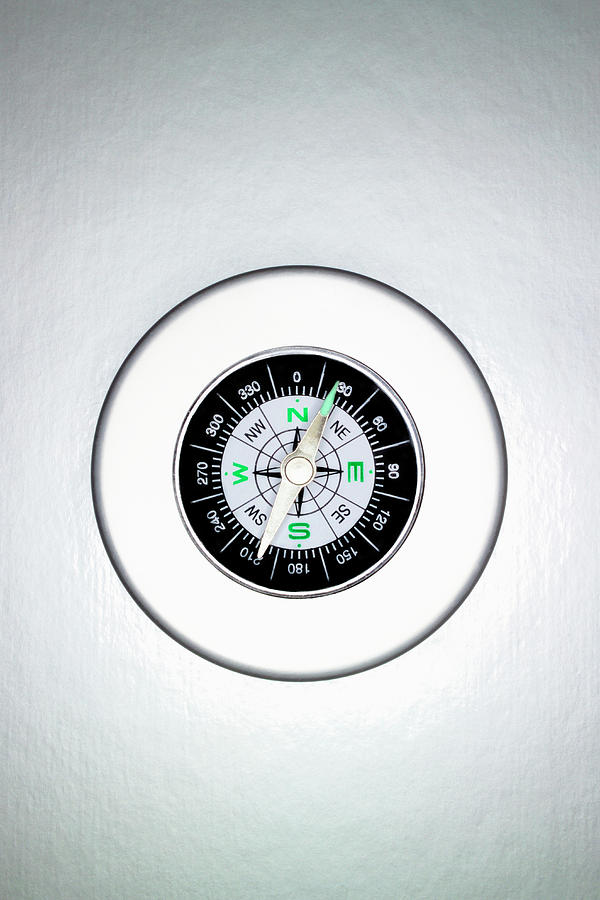 Compass, Overhead View Photograph by Martin Poole