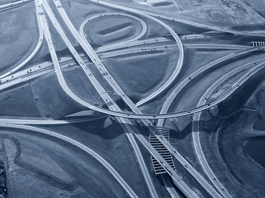 Complex Highway Interchange, Toned Image Photograph by Dan prat
