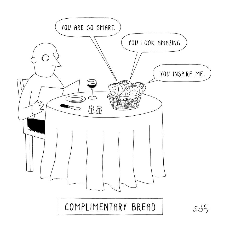 Complimentary Bread Drawing by Seth Fleishman