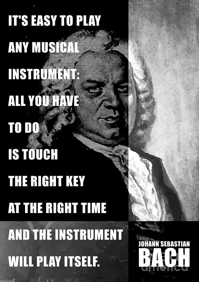 Art Print//Poster Composer Johann Sebastian Bach