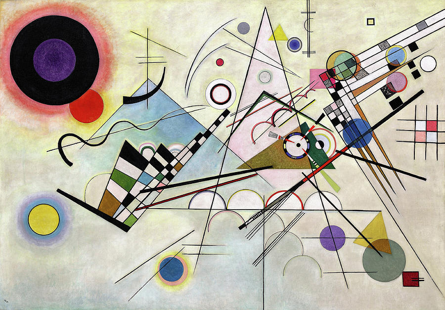 Wassily Kandinsky Painting - Composition 8 - Komposition 8 by Wassily Kandinsky