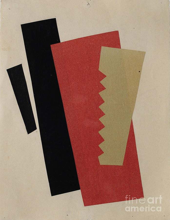 Composition Red-black-gold. Artist Drawing by Heritage Images