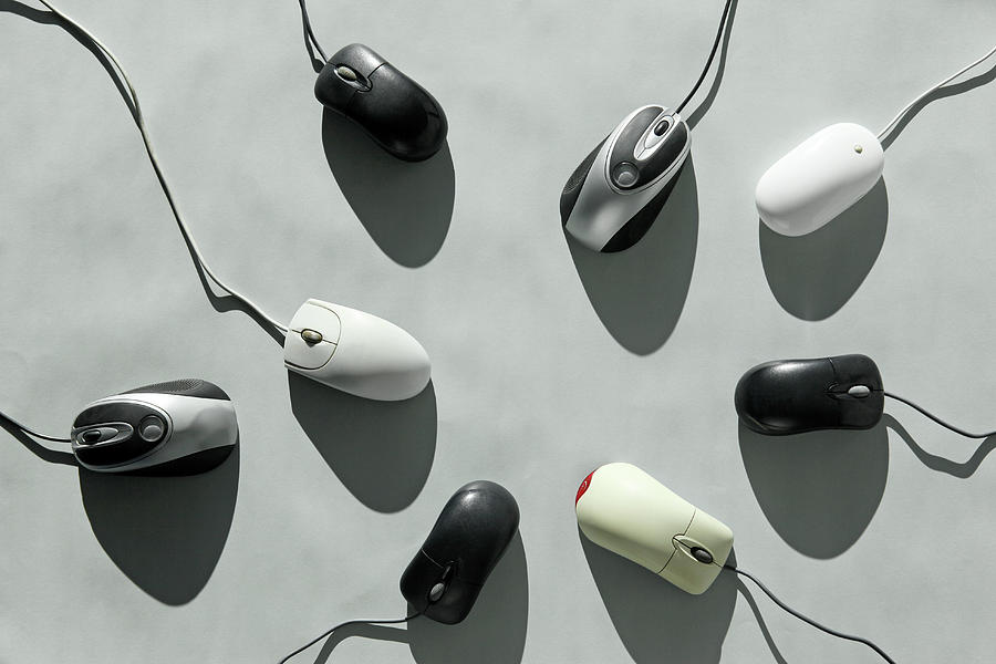 Computer Mice Photograph by Richard Newstead