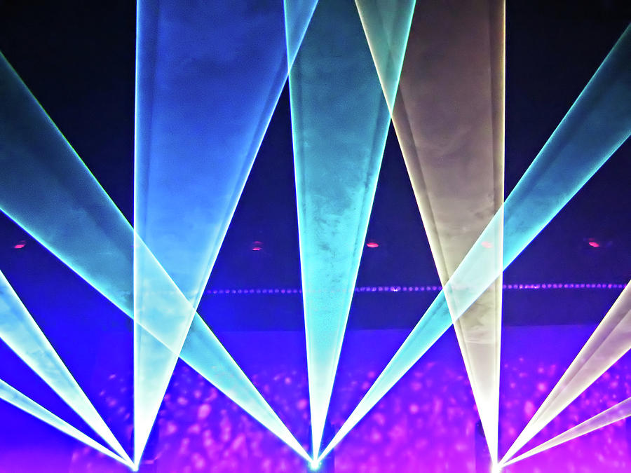Concert Lights Digital Art by Ellen Van Bodegom