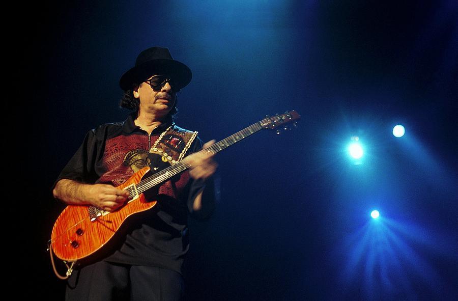 Concert Of Carlos Santana In Bercy Photograph by Alain Benainous
