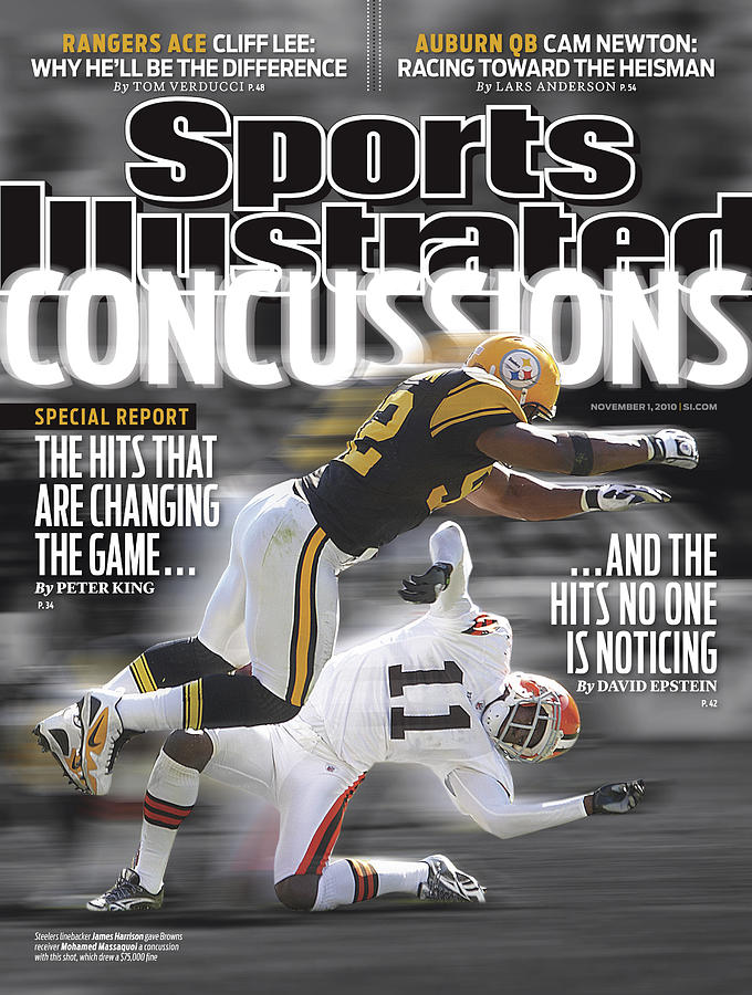 Concussions Special Report The Hits That Are Changing The Sports Illustrated Cover Photograph by Sports Illustrated