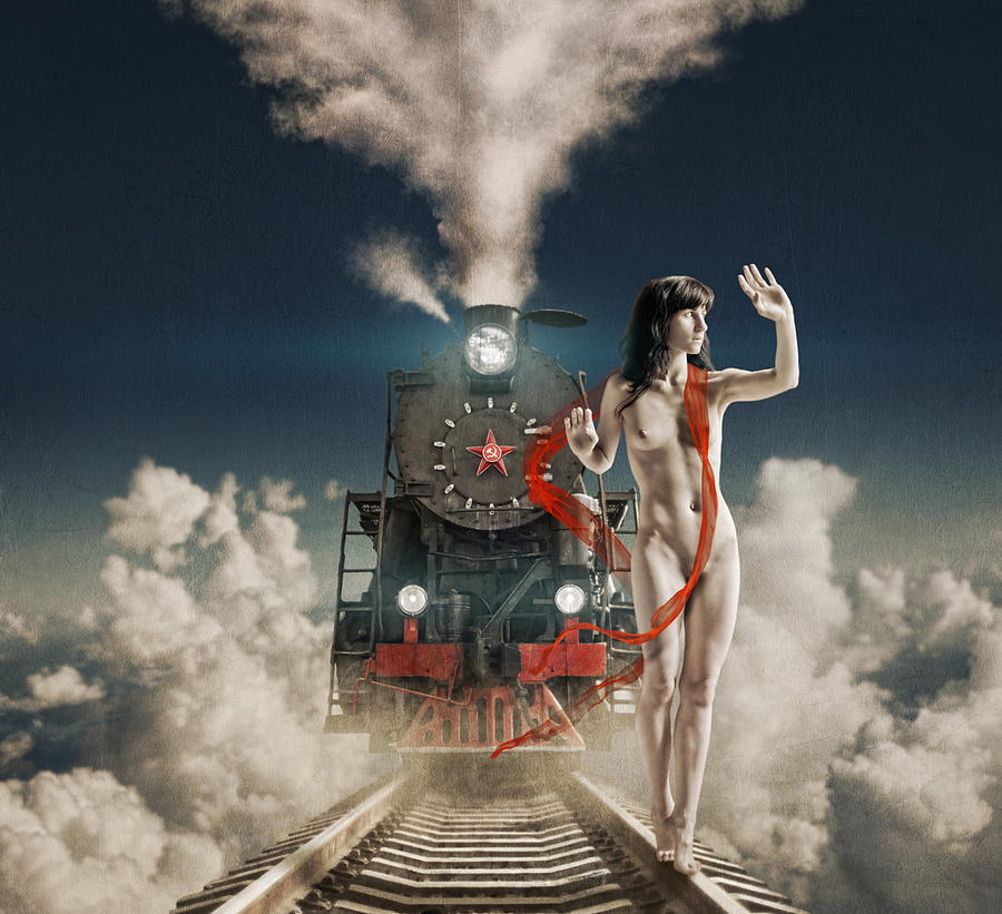 Train Photograph - Conductor by Dmitry Laudin