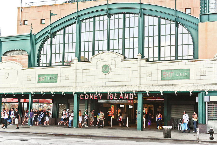 Coney Island Beach Travelers by Ann Murphy
